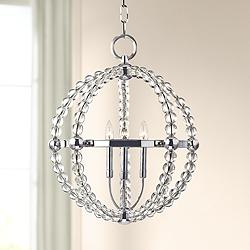 "Hudson Valley Danville 21 1/4"" Wide Polished Nickel Pendant"