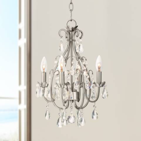 Kathy Ireland Hollis 15 Quot W Crystal Swag Plug In Chandelier