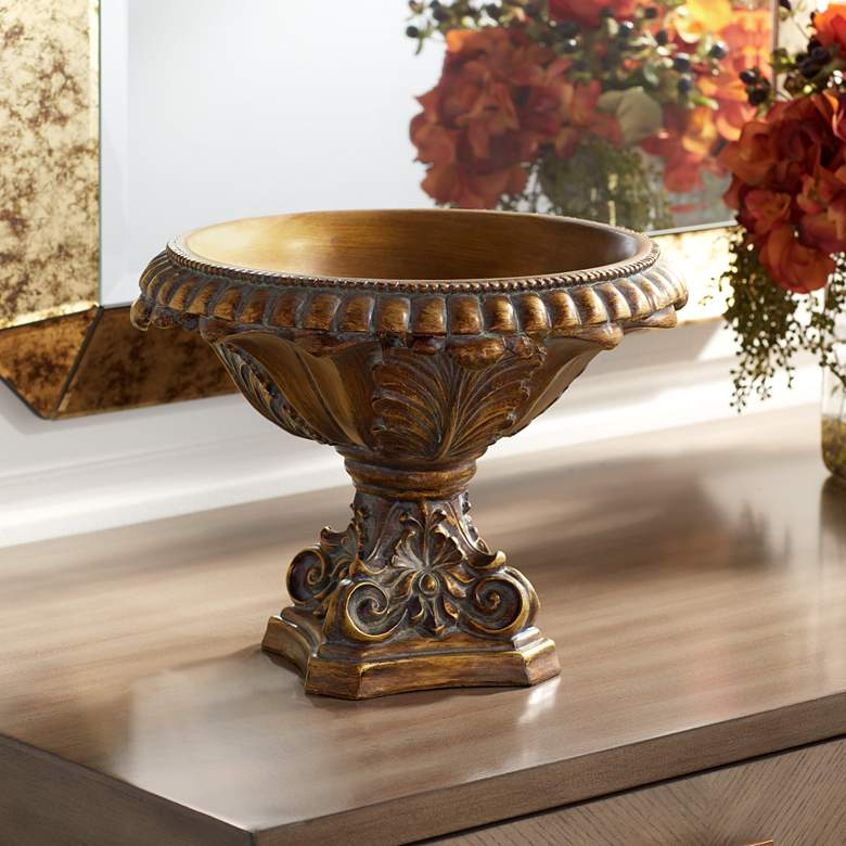 "Brighton 13"" Wide Bronze Finish Decorative Bowl"