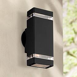 "Skyridge 10 1/2"" High Black Up-Down Outdoor Wall Light"