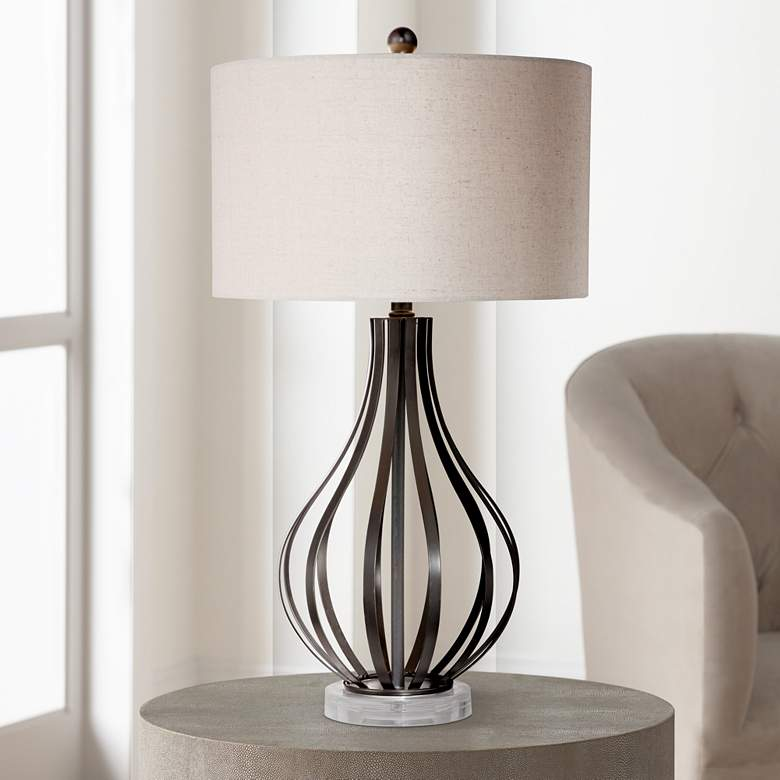 Hyden Bronze Open Gourd Table Lamp