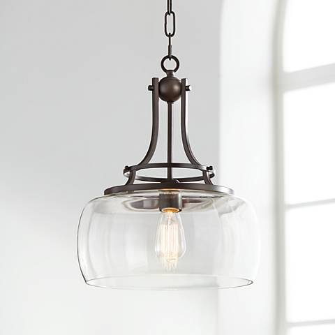 "Charleston 13 1/2"" Wide Bronze Pendant"