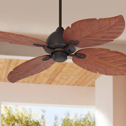 "60"" Casa Vieja Oak Creek Damp Rated Ceiling Fan"
