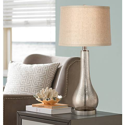 Janna Mercury Glass Gourd Table Lamp