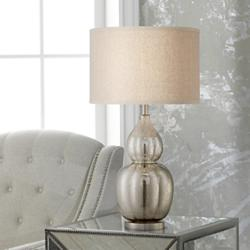 Jackie Fluted Mercury Glass Table Lamp