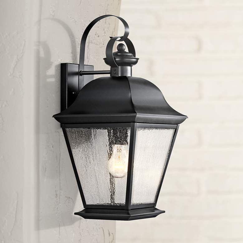 "Kichler Mt. Vernon 19 1/2"" High Black Outdoor Wall Light"