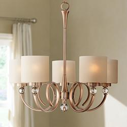 "Ovanda 26"" Wide Antique Brass Chandelier"