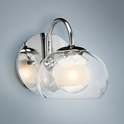 "Elan Niu 6"" High Chrome and Optic Glass Wall Sconce"