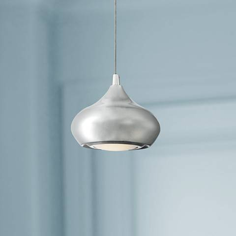 "Silver Isles 6"" Wide Chrome LED Mini Pendant Light"