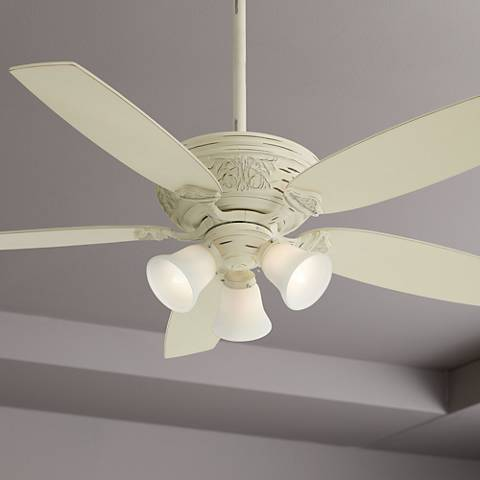 54 Quot Minka Aire Classica 3 Light Provencal Blanc Ceiling Fan 4j037 Lamps Plus