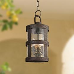 "Barbosa 16 3/4""H Bronze Outdoor Hanging Light"
