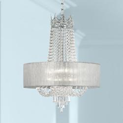 "Hallie 21"" Wide Clear Crystal Chandelier"