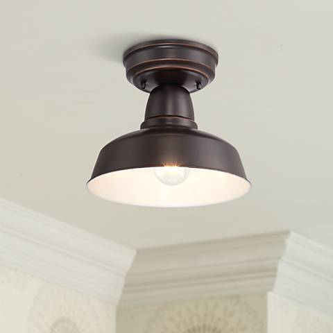 "Urban Barn Collection 10 1/4""W Bronze Ceiling Light"