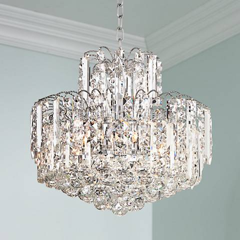 "Leya 18"" Wide Crystal Chandelier"