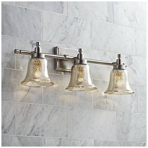 possini bathroom light fixtures possini 26 1 2 quot wide mercury glass 3 light bath 20047