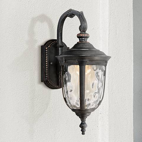 "Bellagio 16 1/2""H Bronze Downbridge LED Outdoor Wall Light"