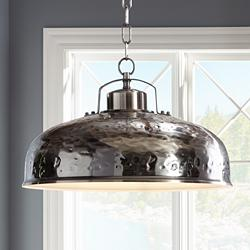 "Essex 18"" Wide Dyed Nickel Metal Pendant Light"
