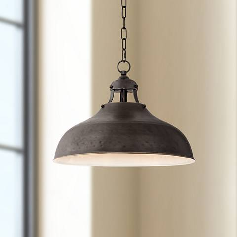 "Essex 16"" Wide Dyed Bronze Metal Pendant Light"
