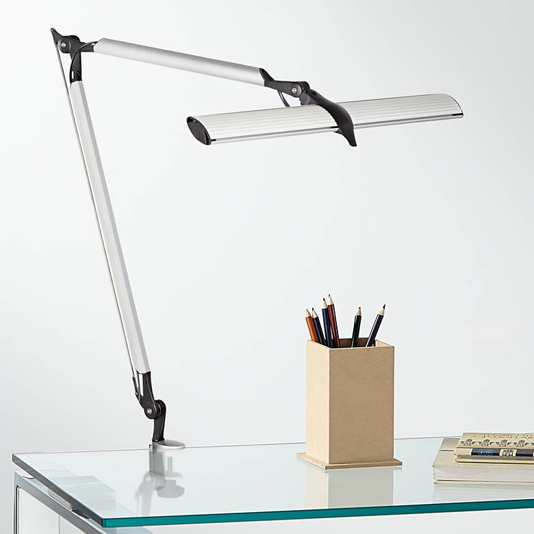 Skape Silver LED Clamp Desk Lamp