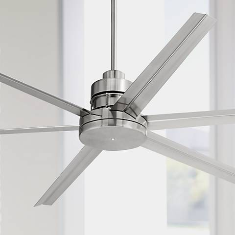 72 Quot Mondo Brushed Nickel Ceiling Fan 4m375 Lamps Plus