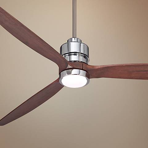 "70"" Sonnet Chrome Finish LED Ceiling Fan"