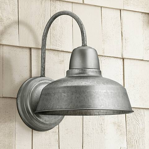 "Urban Barn 13"" High Galvanized LED Outdoor Wall Light"