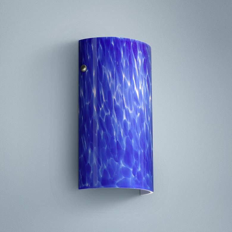 "Besa Tamburo 11 3/4"" High Blue Cloud Wall"