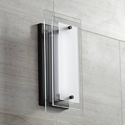 "Possini Euro Alexis 12"" High Glass LED Outdoor Wall Light"
