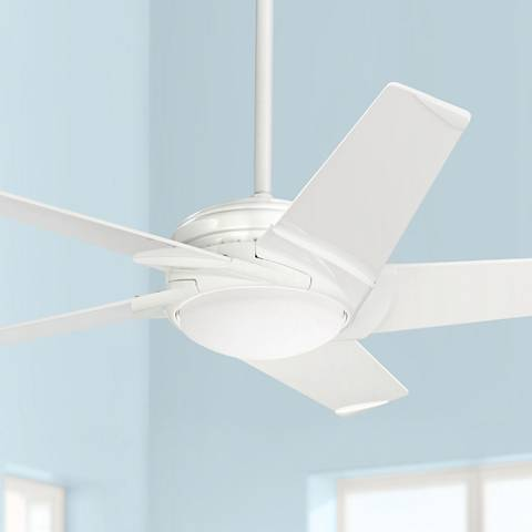 54 emerson ideal satin white led ceiling fan 23m01 lamps plus 54 casablanca stealth snow white led ceiling fan aloadofball Images