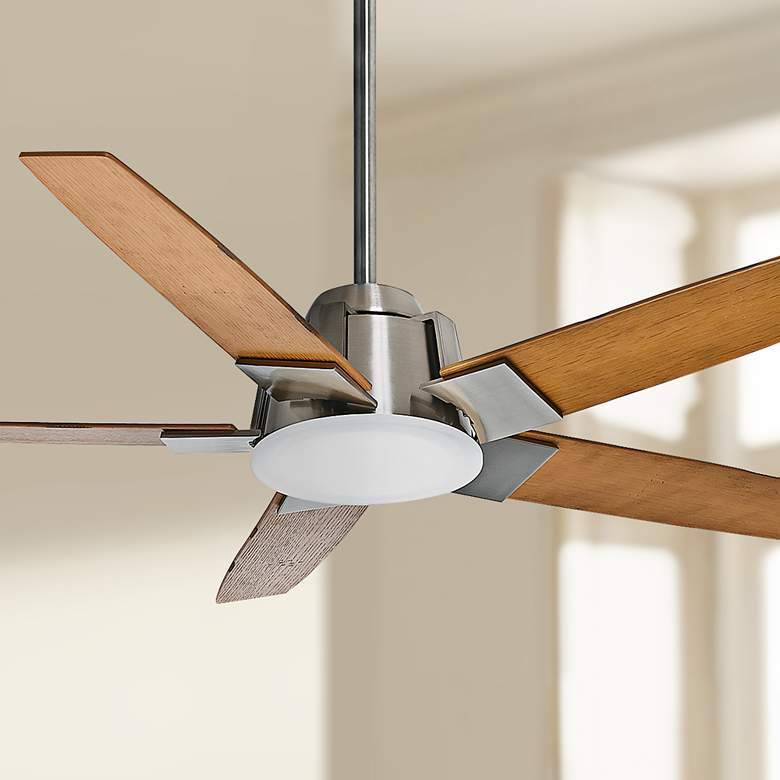"54"" Casablanca Zudio Brushed Nickel LED Ceiling Fan"