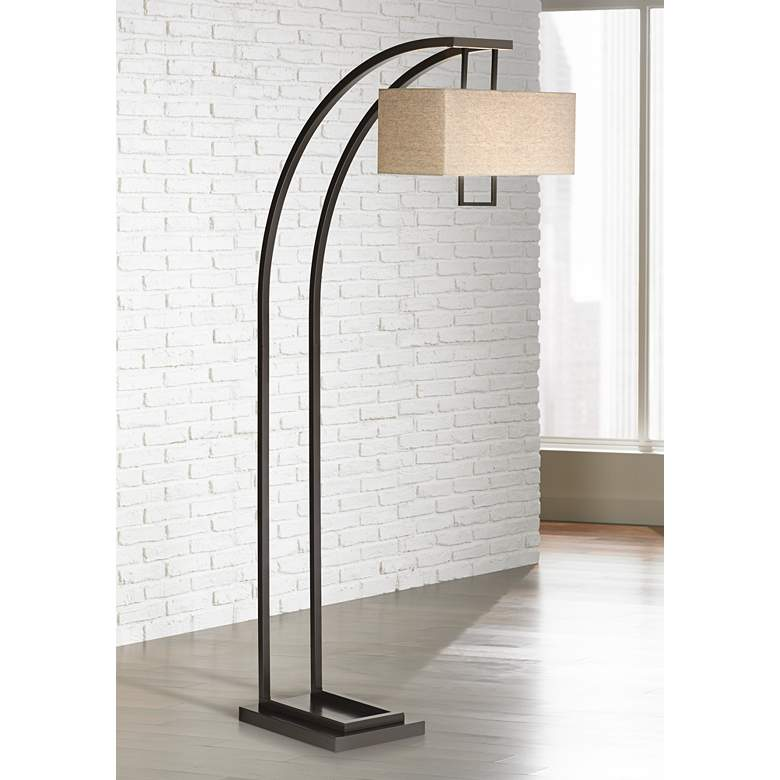 Aiden Place Oil Rubbed Bronze Arc Floor Lamp 4n567