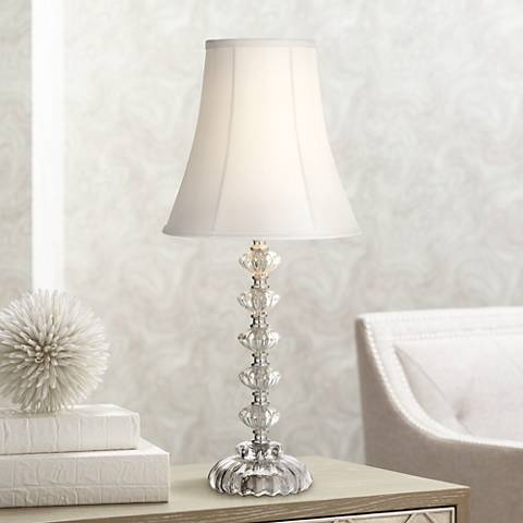 Bohemian Clear Stacked Glass Table Lamp