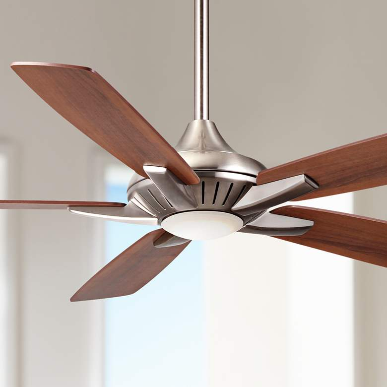 "52"" Minka Aire DYNO Brushed Nickel Ceiling Fan"