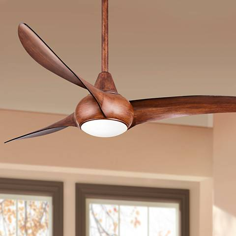 52 minka aire light wave distressed koa ceiling fan 4n706 52 minka aire light wave distressed koa ceiling fan 4n706 lamps plus aloadofball Images