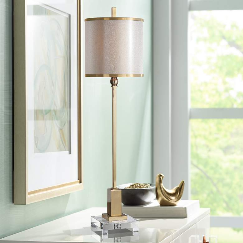 Uttermost Villena Plated Brass Table Lamp
