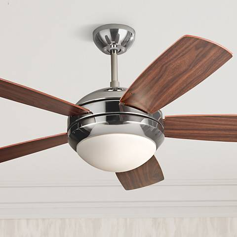 "44"" Monte Carlo Discus II Polished Nickel Ceiling Fan"