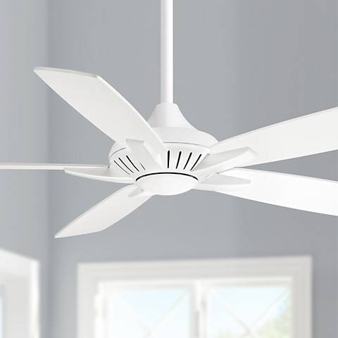 "52"" Minka Aire DYNO White Ceiling Fan 4T456"