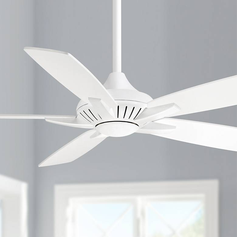 "52"" Minka Aire DYNO White Ceiling Fan"