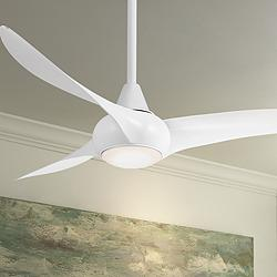 "52"" Minka Aire Light Wave White Ceiling Fan"