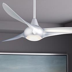 "52"" Minka Aire Light Wave Silver Ceiling Fan"