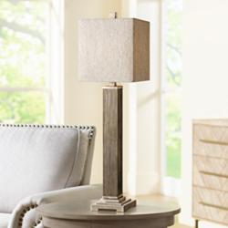Uttermost Medea Aged Wood Table Lamp