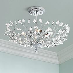 "Brielle 18 1/2"" Wide Chrome 4-Light Ceiling Light"
