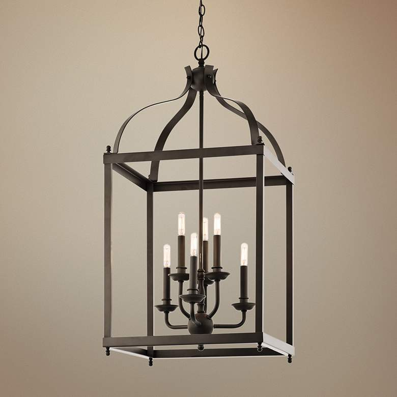 "Kichler Larkin 18"" Wide Olde Bronze 6-Light Foyer Pendant"