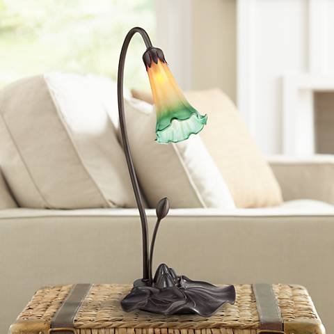 "Amber Lily 16 3/4"" High LED Accent Table Lamp"