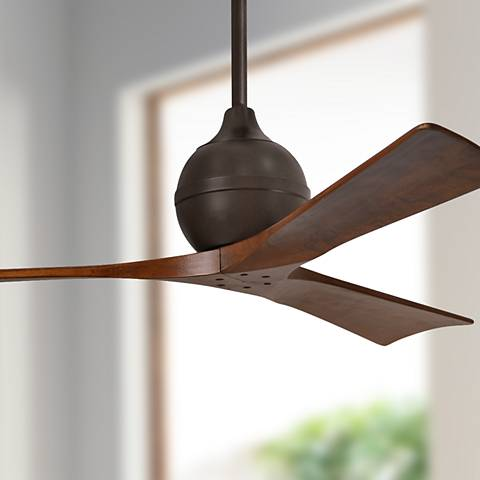 "52"" Matthews Irene 3-Blade Walnut - Bronze Ceiling Fan"