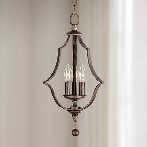 "Crystorama Parson 11"" Wide English Bronze Pendant"