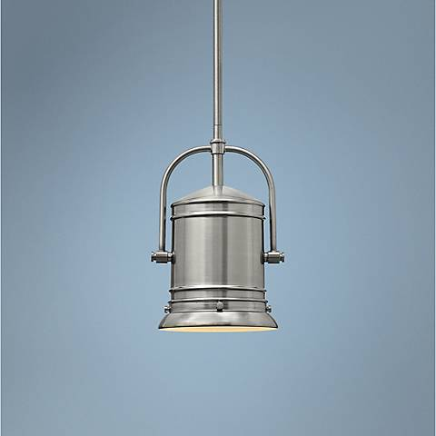 "Hinkley Pullman 7 1/4"" Wide Brushed Nickel Mini Pendant"