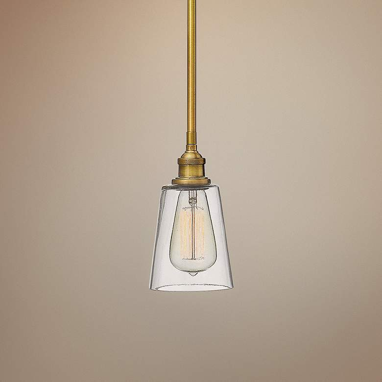 "Hinkley Gatsby 4 1/2"" Wide Heritage Brass Mini Pendant"