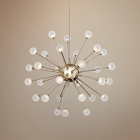 "Frederick Ramond Impulse 24"" Wide LED Gold Chandelier"