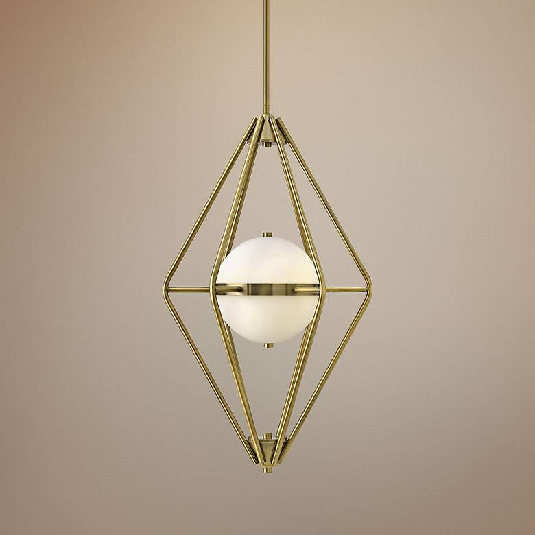 "Spectra 18"" Wide Retro Brass Chandelier"